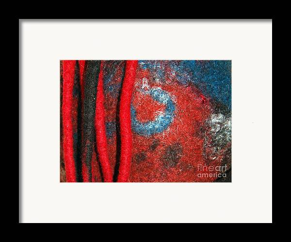 Abstract Framed Print featuring the tapestry - textile Lined Up Reds   by Alexandra Jordankova