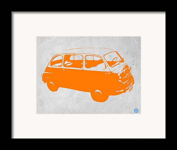 Framed Print featuring the drawing Little Bus by Naxart Studio