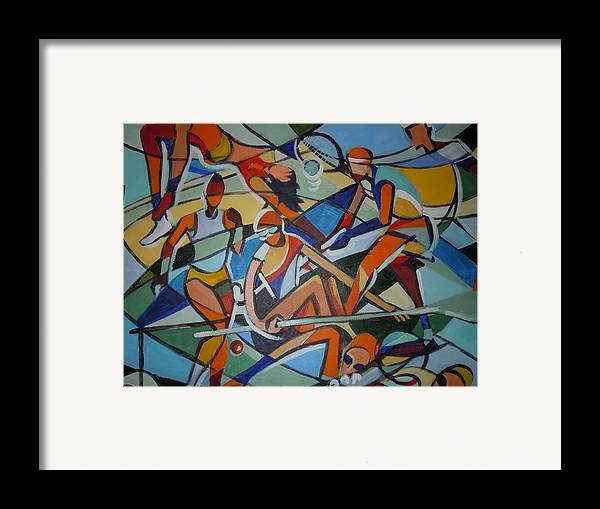 Mural Framed Print featuring the painting London Olympics Inspired by Michael Echekoba