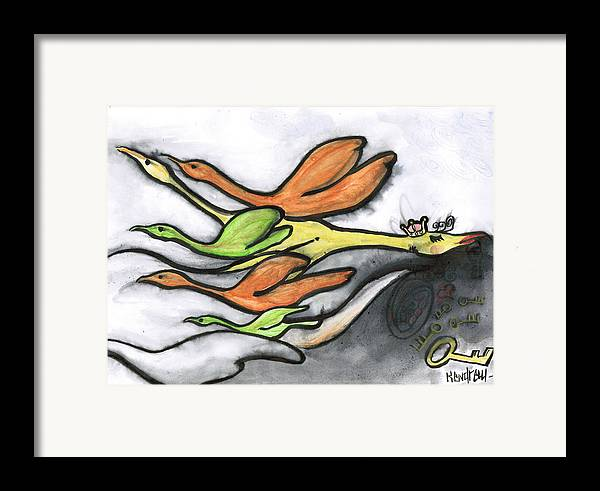 Original Art Work By Kendrew Black Framed Print featuring the drawing Lost by Kendrew Black