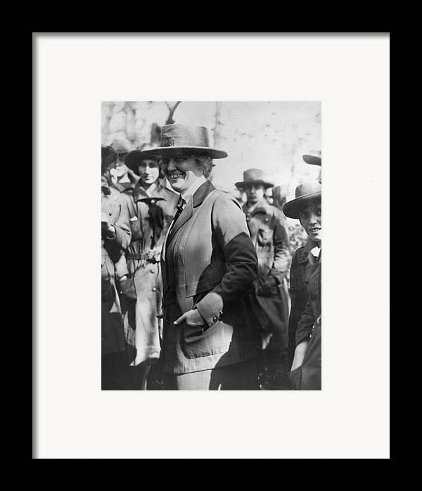 1920s Candid Framed Print featuring the photograph Lou Henry Hoover 1874-1944, First Lady by Everett