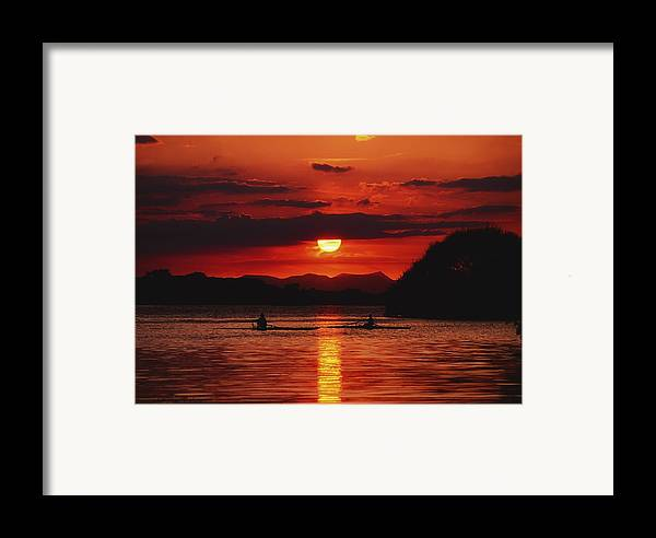 Background People Framed Print featuring the photograph Lough Leane, Killarney, Co Kerry by The Irish Image Collection