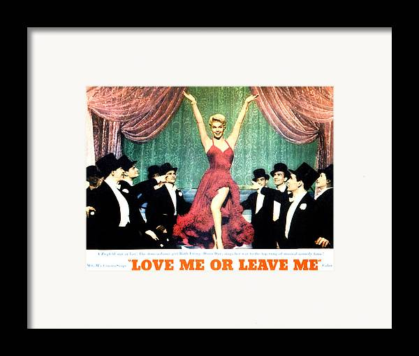 1950s Movies Framed Print featuring the photograph Love Me Or Leave Me, Doris Day, 1955 by Everett