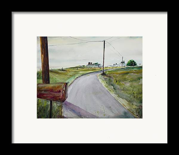 Watercolor Framed Print featuring the painting Mail Call by Scott Nelson