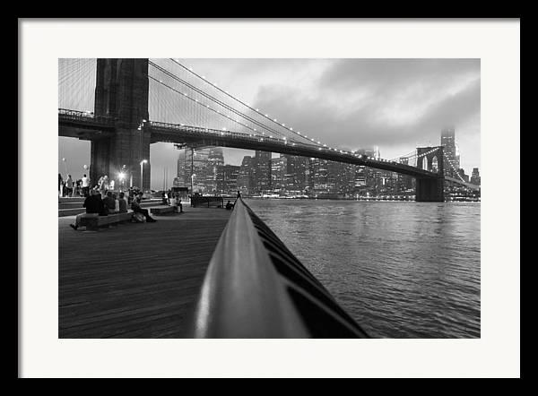 Brooklyn Bridge Framed Print featuring the photograph Manhattan Bridge by Nina Mirhabibi