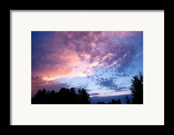 Sunset Framed Print featuring the photograph Marble Sky by Kevin Bone