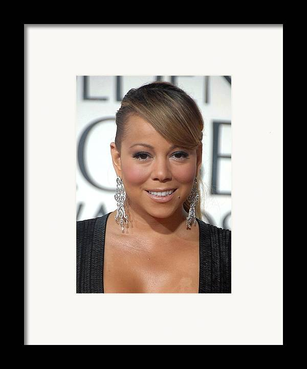 Mariah Carey Framed Print featuring the photograph Mariah Carey Wearing Chopard Earrings by Everett