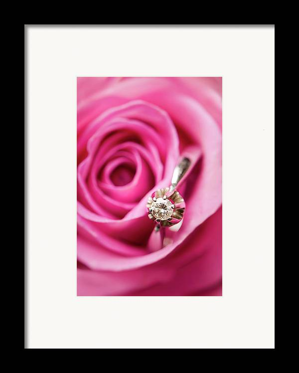 Vertical Framed Print featuring the photograph Marriage Proposal by Elias Kordelakos Photography