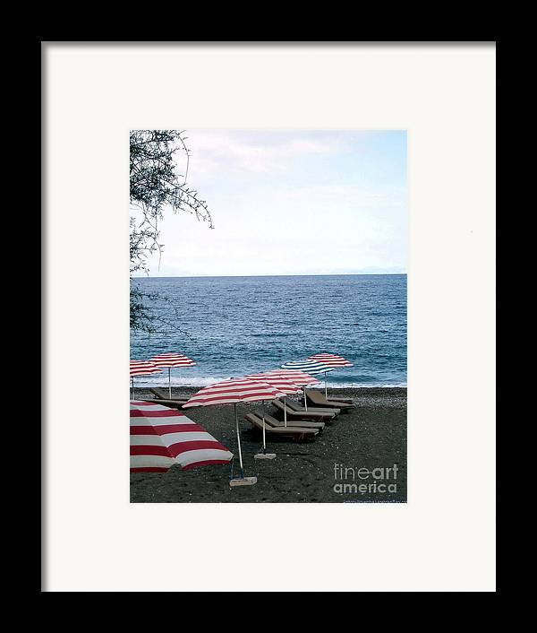 Beach Framed Print featuring the photograph Mediterranean Beach Time by Anthony Novembre