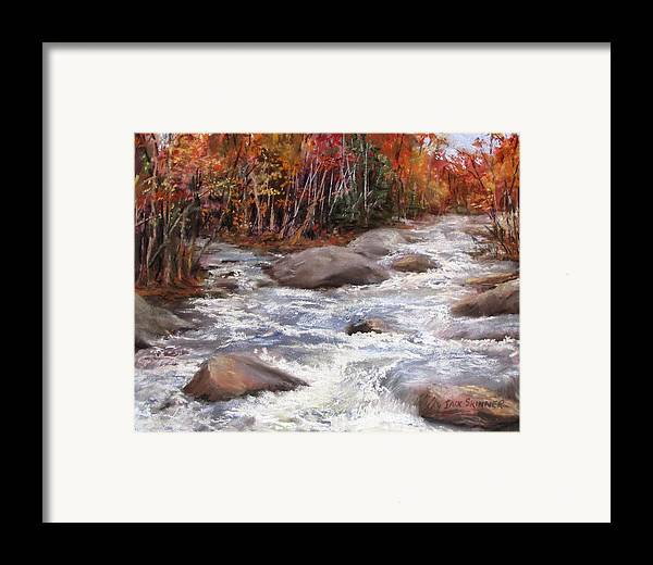 River Framed Print featuring the painting Meeting Of The Waters by Jack Skinner