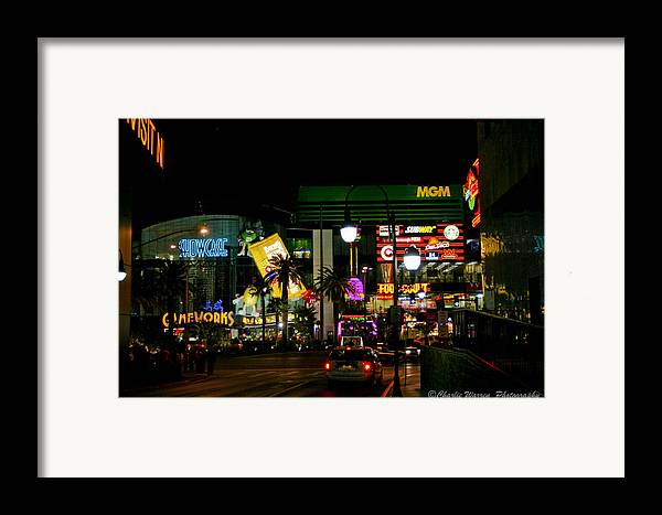 Las Vegas Framed Print featuring the photograph MGM by Charles Warren