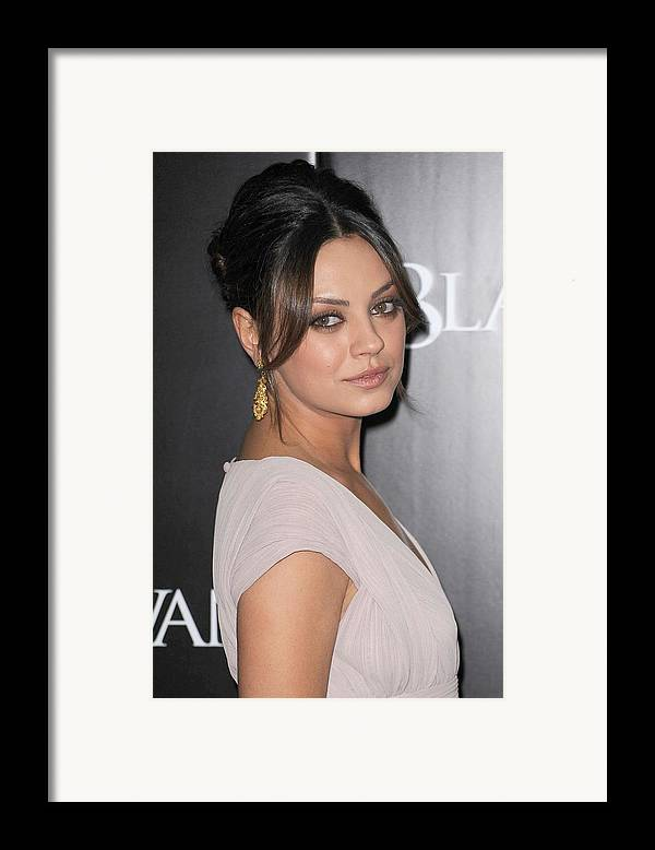 Mila Kunis Framed Print featuring the photograph Mila Kunis At Arrivals For Black Swan by Everett