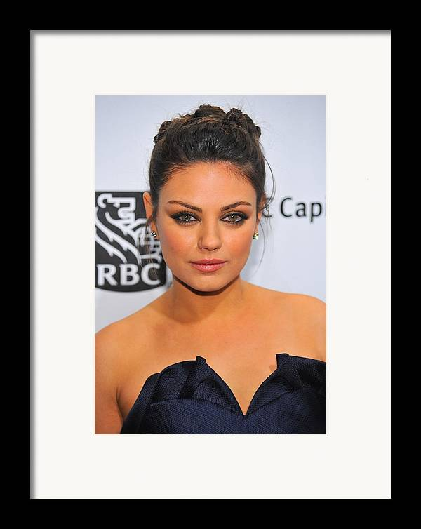 Mila Kunis Framed Print featuring the photograph Mila Kunis At Arrivals For Ifps 20th by Everett