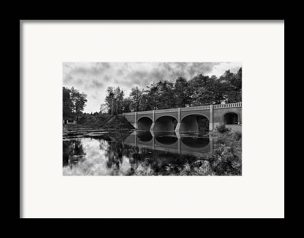 Bridge Framed Print featuring the photograph Mirror Bridge by Peter Chilelli