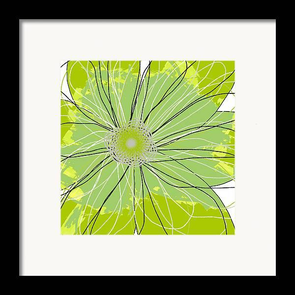 Canvas Art Framed Print featuring the mixed media Moda Flower Mix I by Ricki Mountain