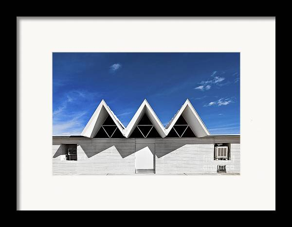 Angles Framed Print featuring the photograph Modern Building Roofing by Eddy Joaquim