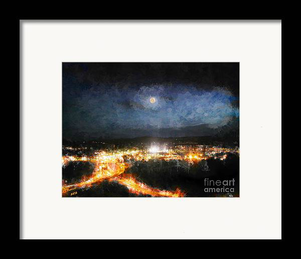 Arne J Hansen Framed Print featuring the photograph Moonshine Over Prescott by Arne Hansen