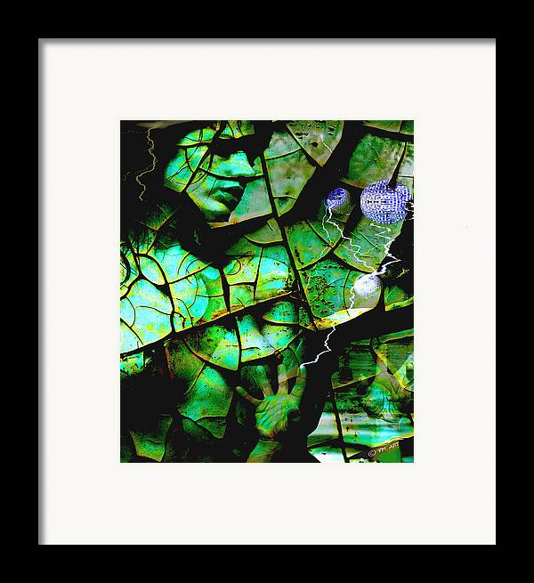 Mother Earth Framed Print featuring the digital art Mother Earth by Yvon van der Wijk