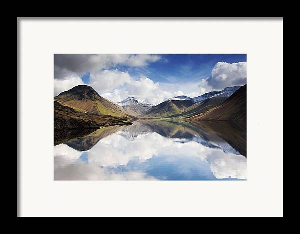 Cumbria Framed Print featuring the photograph Mountains And Lake, Lake District by John Short