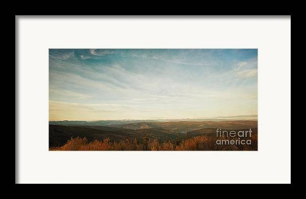 As Far As The Eye Can See Framed Print featuring the photograph Mountains As Far As The Eye Can See by Priska Wettstein