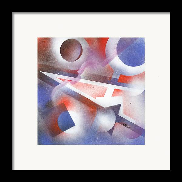 Music Framed Print featuring the painting Music Of The Spheres by Hakon Soreide