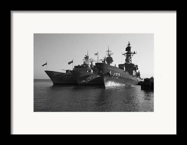 Naval Joint Operations Framed Print featuring the photograph Naval Joint Ops V1 by Douglas Barnard