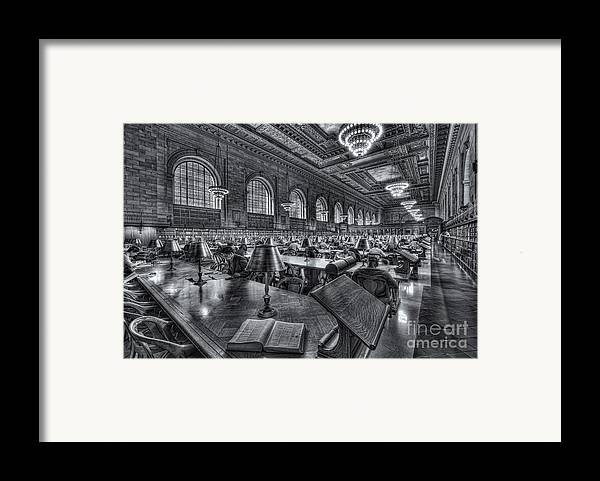 Clarence Holmes Framed Print featuring the photograph New York Public Library Main Reading Room Vi by Clarence Holmes