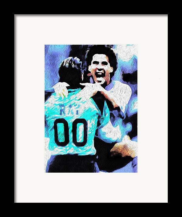 Soccer Framed Print featuring the mixed media Nicolas Nixo Soccer by Nicolas Nixo