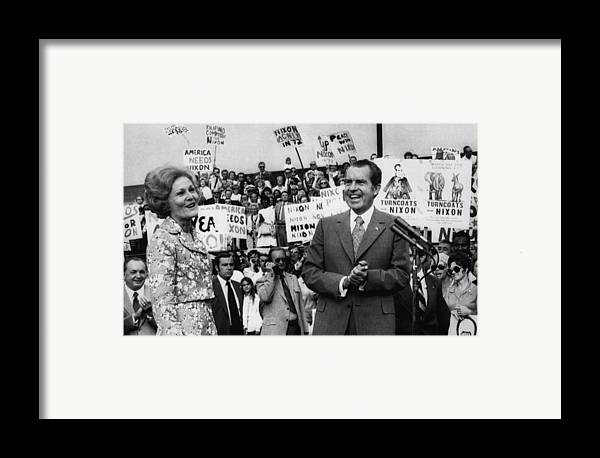 1970s Framed Print featuring the photograph Nixon Presidency. First Lady Patricia by Everett