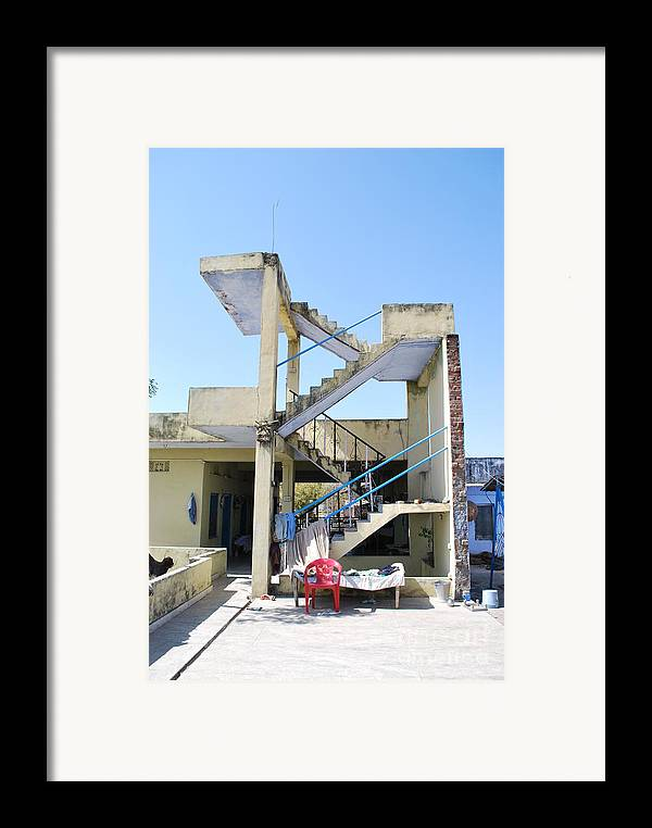 India Framed Print featuring the photograph Not Quite A House by Jen Bodendorfer