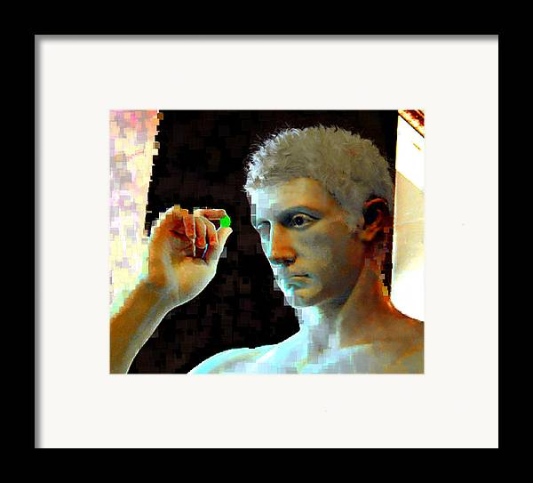 Nature Framed Print featuring the digital art Nude Face by Ilias Athanasopoulos