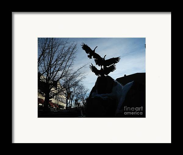 Fort Collins Framed Print featuring the photograph Old Town Silhouette by Sara Mayer