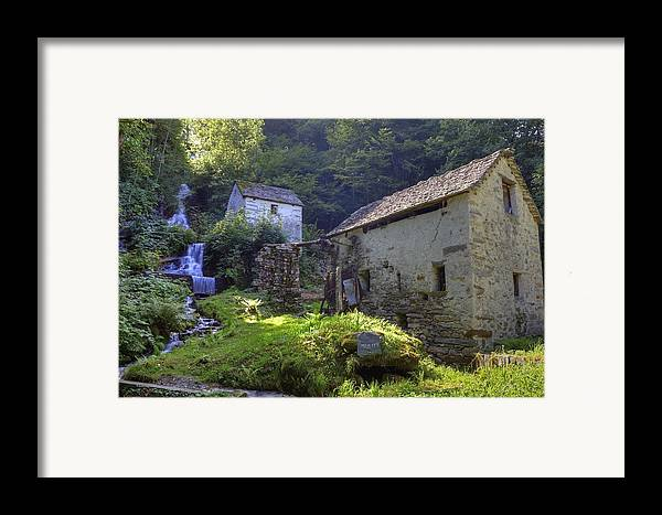 Moghegno Framed Print featuring the photograph Old Watermill by Joana Kruse