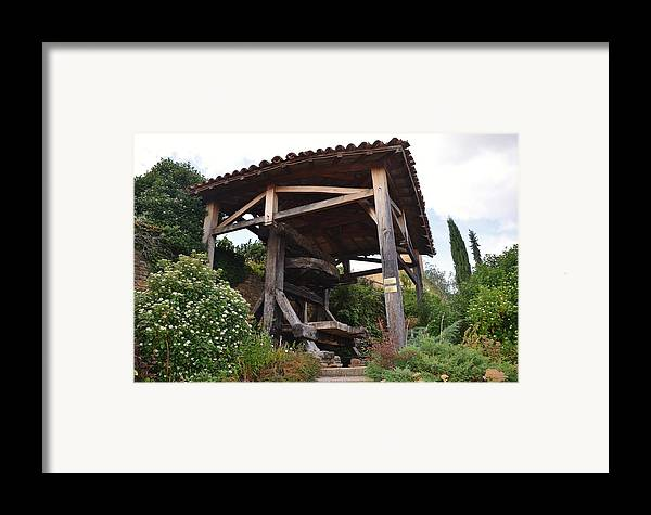 Agriculture Framed Print featuring the photograph Old Wine Press by Dany Lison