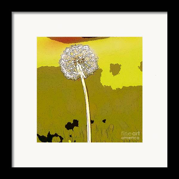 Dandelion Framed Print featuring the painting One Day Your Wish Will Come True by Artist and Photographer Laura Wrede