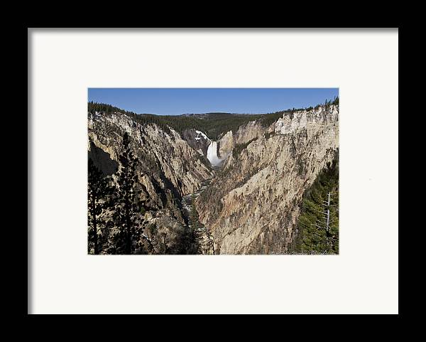 Falls Framed Print featuring the photograph Overlook Falls by Charles Warren