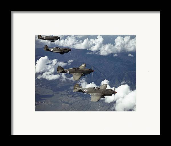 Day Framed Print featuring the photograph P-40 Pursuits Of The U.s. Army Air by Luis Marden