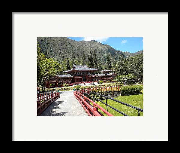 Pagoda Framed Print featuring the photograph Pagoda by Silvie Kendall