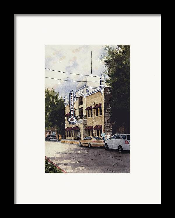 Hotel Framed Print featuring the painting Palace Hotel by Sam Sidders