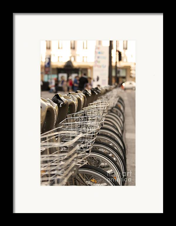Bicycle Framed Print featuring the pyrography Paris Bikes by Igor Kislev