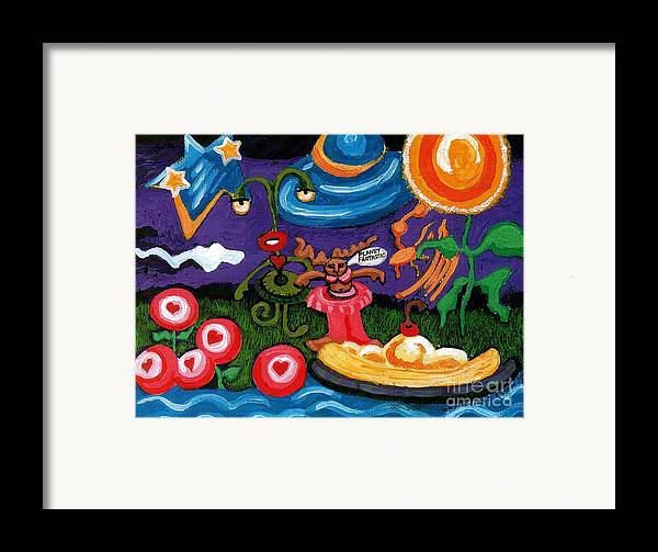 Planet Fantastic Framed Print featuring the painting Planet Fantastic by Genevieve Esson