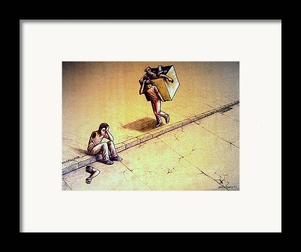 Abbreviated Lives Framed Print featuring the digital art Poetries Incomplete by Paulo Zerbato