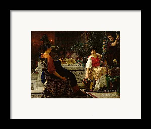 Preparations Framed Print featuring the painting Preparations For The Festivities by Sir Lawrence Alma-Tadema