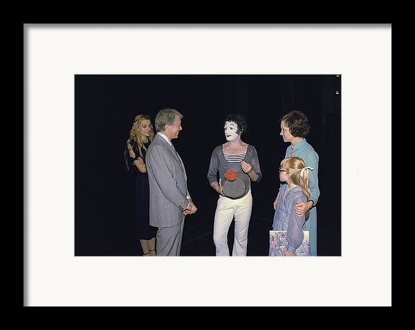 History Framed Print featuring the photograph President Jimmy Carter Rosalynn Carter by Everett
