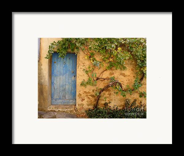 Door Framed Print featuring the photograph Provence Door 5 by Lainie Wrightson