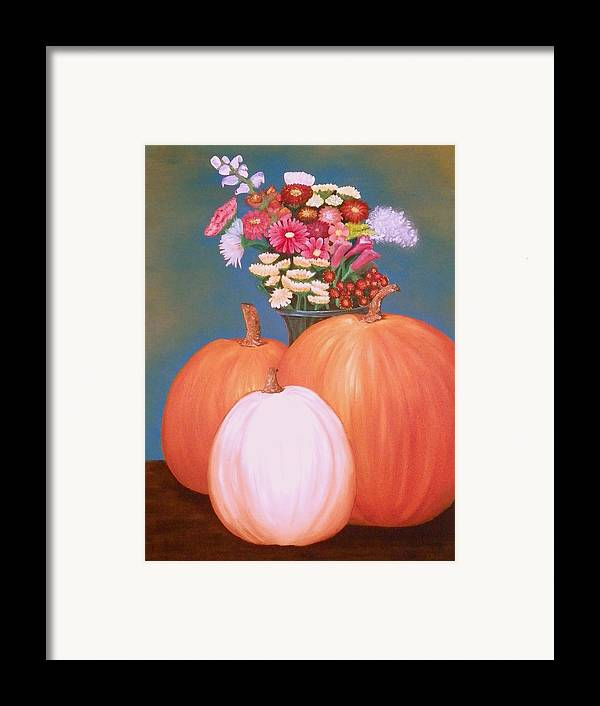 Pumpkin Framed Print featuring the painting Pumpkin by Amity Traylor
