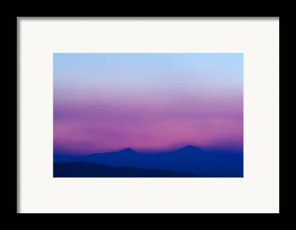 Sunset Framed Print featuring the photograph Purple Haze by Kevin Bone