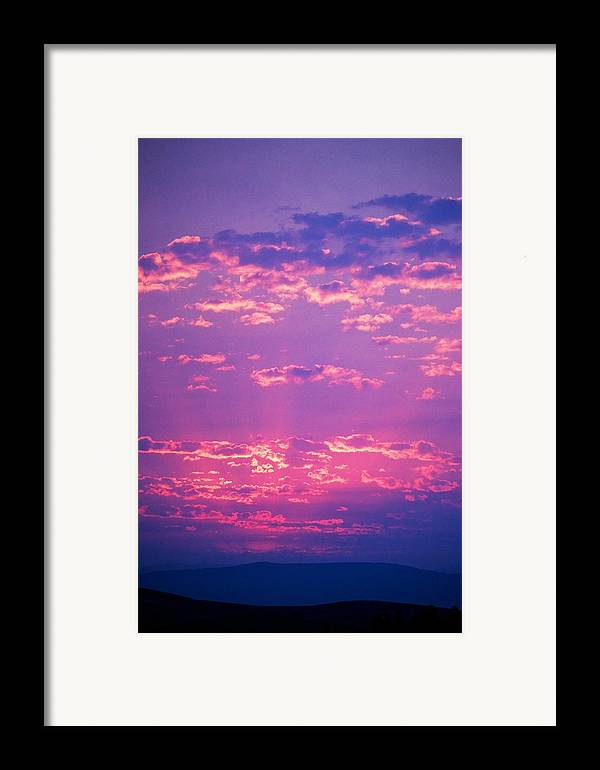 Sunset Framed Print featuring the photograph Purple Sky by Kevin Bone