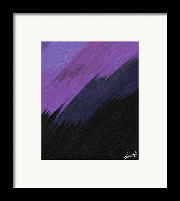Digital Framed Print featuring the painting Purple Sunrise by Lance Kelly
