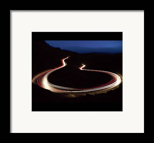 Horizontal Framed Print featuring the photograph R H O N D D A V A L L E Y R O A D S by C T Aylward